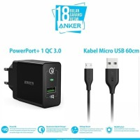 Jual Anker Wall Charger Powerport+ 1 Quick Charge 3.0 & 3Ft Micro Usb