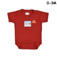 MIYO Baju Kodok Segitiga / Jumper Bayi/Baby Merah Newborn (0-3M)