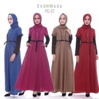 EndoModa PC-27 Dress Wanita Baju Muslim Modern Gamis Pck  Terbaru 2018