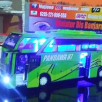 Miniatur Bis Banjarnegara bus Remote an Pandawa 87 green BUS