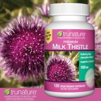 Trunature Premium Milk Thistle 160 Mg., 120 Vegetarian Capsules.