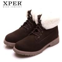 Harga original xper brand men shoes martin men winter boots brown kulit   antitipu.com