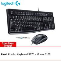 Logitech Paket Combo Keyboard K120 dan Mouse B100