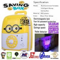 Mainan Celengan Saving Box Brankas Minion Musik Lampu SNI Promo Murah