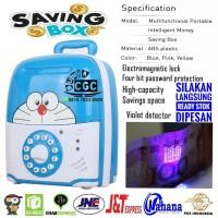Mainan Celengan Saving Box Brankas Doraemon Musik Lampu SNI Promo Mura