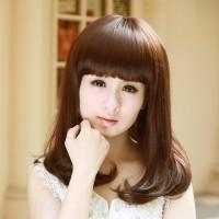 3391 - Wig Rambut Palsu Sedang Murah Wanita Bagus (Light Brown)