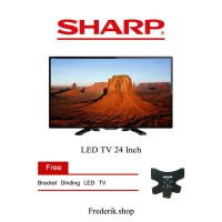 Free Bracket Sharp 24 Aquos LED TV - LC-24LE175I - USB Movie 24le175
