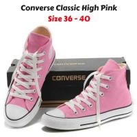 Sepatu Converse All Star Classic HIGH Pink - Grade Ori Vietnam