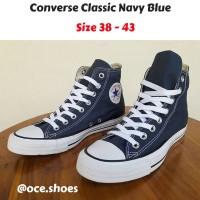 Sepatu Converse All Star Classic HIGH Biru Navy - Grade Ori Vietnam