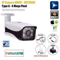 CCTV Ipcam NVSIP Outdoor 4Mp Support Microfon