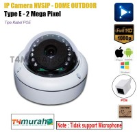 IPCam 2Mp NVSIP Dome Outdoor CCTV Support POE Dustproof