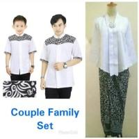 Family set baju koko bapak anak kombi stelan kebaya nuraini dan rok
