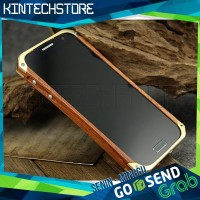 Case Bumper Samsung Galaxy S4 IV Element Ronin Wood Kayu Kuat Slim
