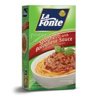 LA FONTE PRONTO SPAGHETI SAUS BOLOGNESE 117GR