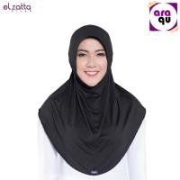 Jual ELZATTA Hijab Instan / Hijab Bergo Serut / Kerudung Murah / HITAM Murah