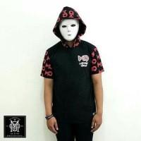 Kaos pendek hoodie MEMPHIS hitam not kickOUT FYC Friday PROMO