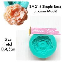 Sm214 Simple Rose Silicone Mould Cetakan Mawar Silikon Jelly Puding