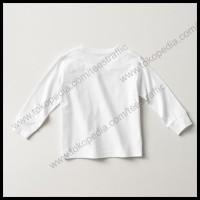 (Sale!!!) Kaos Polos Anak Lengan Panjang Kaos Anak Putih Cotton Combed