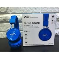 Headphone Bluetooth NIA X3 - Wireless Calls & Music, Tf Card, FM