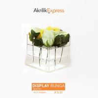Vas bunga Acrylic / Vas Bunga Acrylic Putih G1 / Vas Bunga Akrilik
