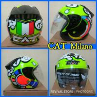 new Helm CAT rossi Milano mirip NHK R6