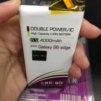 Baterai Log On Samsung Galaxy S6 Edge 4000mah Double Power