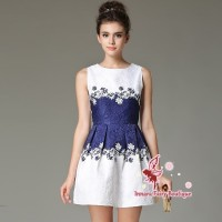 Cocktail Party Dress Leaves - Dress Pesta