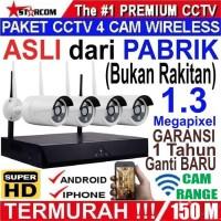 PAKET CCTV WIRELESS 4 IP CAMERA 1,3 Megapixel IP KAMERA SUPER HD