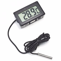 Thermometer Aquarium Digital with Probe Car Fridge Incubator
