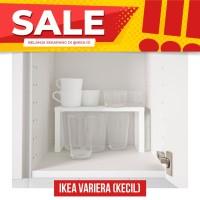 IKEA VARIERA Shelf Insert, Sisipan rak, Putih kecil