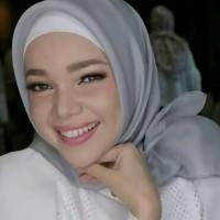 Jilbab Segiempat Organza Cantik