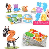 Mainan Anak 3d Puzzle Learning Alphabet English Mandarin Puzzle Murah