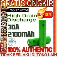 ORIGINAL - Sony VTC4 US18650VTC4 VTC4 HIGH DRAIN 30A 2100mAH