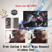 Garskin Laptop Asus ROG GL553VD Full Body motif Titan - free Custom