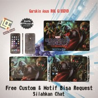 Garskin Laptop Asus ROG GL553VD Full Body motif Guar - free Custom