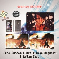 Garskin Laptop Asus ROG GL553VD Full Body motif Anime - free Custom
