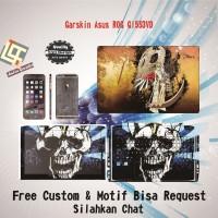 Garskin Laptop Asus ROG GL553VD Full Body motif Skull - free Custom