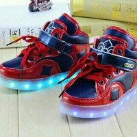 Sepatu Led Anak Laki-laki Cowok lampu Import CP
