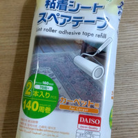 DAISO lint roller adhesive tape refill isi 2/ pembersih karpet