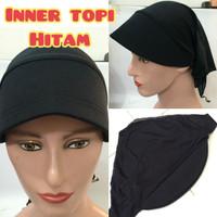 ciput inner daleman jilbab hijab kerudung pet topi kaos polos hitam
