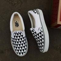 sepatu casual slip on vans tanpa tali premium kuliah jalan keren murah