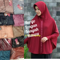 jilbab hijab kerudung bergo instan pet lengan inayah razwa jumbo murah