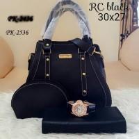 Tas Wanita murah sepaket dengan dompet dan jam