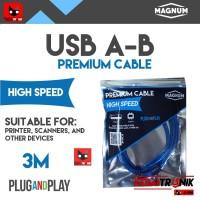 Kabel USB A-B 3M MAGNUM Printer Scanner AB 3 Meter ORIGINAL HQ Premium