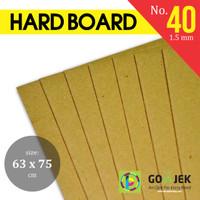 Karton Duplex Yellow Hard Board No. 40 PLANO 63 x 75