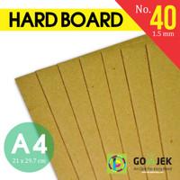 Karton Hard Board No. 40 Tebal 1.5 mm A4 21 x 29.7 cm