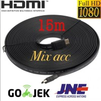 KABEL HDMI TO HDMI 15M FLAT VERSI 1.4 3D 1080P 15 m MALE to MALE