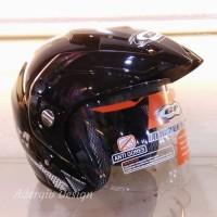 Helm GP New Delta Solid - Hitam setara GM NHK INK KYT MDS