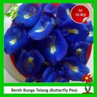 Benih Bunga Telang (Butterfly Pea) Bunga Pewarna Makanan-Isi 10 Biji