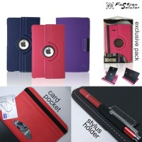 Samsung Tab A6 10 inchi P585 FS Rotating Jeans Stand Flip Cover Case